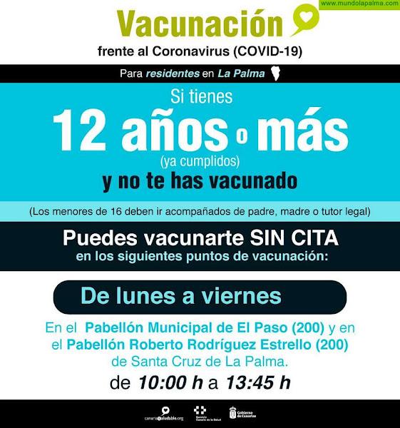 El Pabellón Municipal de El Paso retoma mañana la vacunación contra el COVID-19