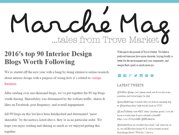 2016 Top 90 Interior Design Blogs Worth Following A Home Tour Interiors By Jacquin