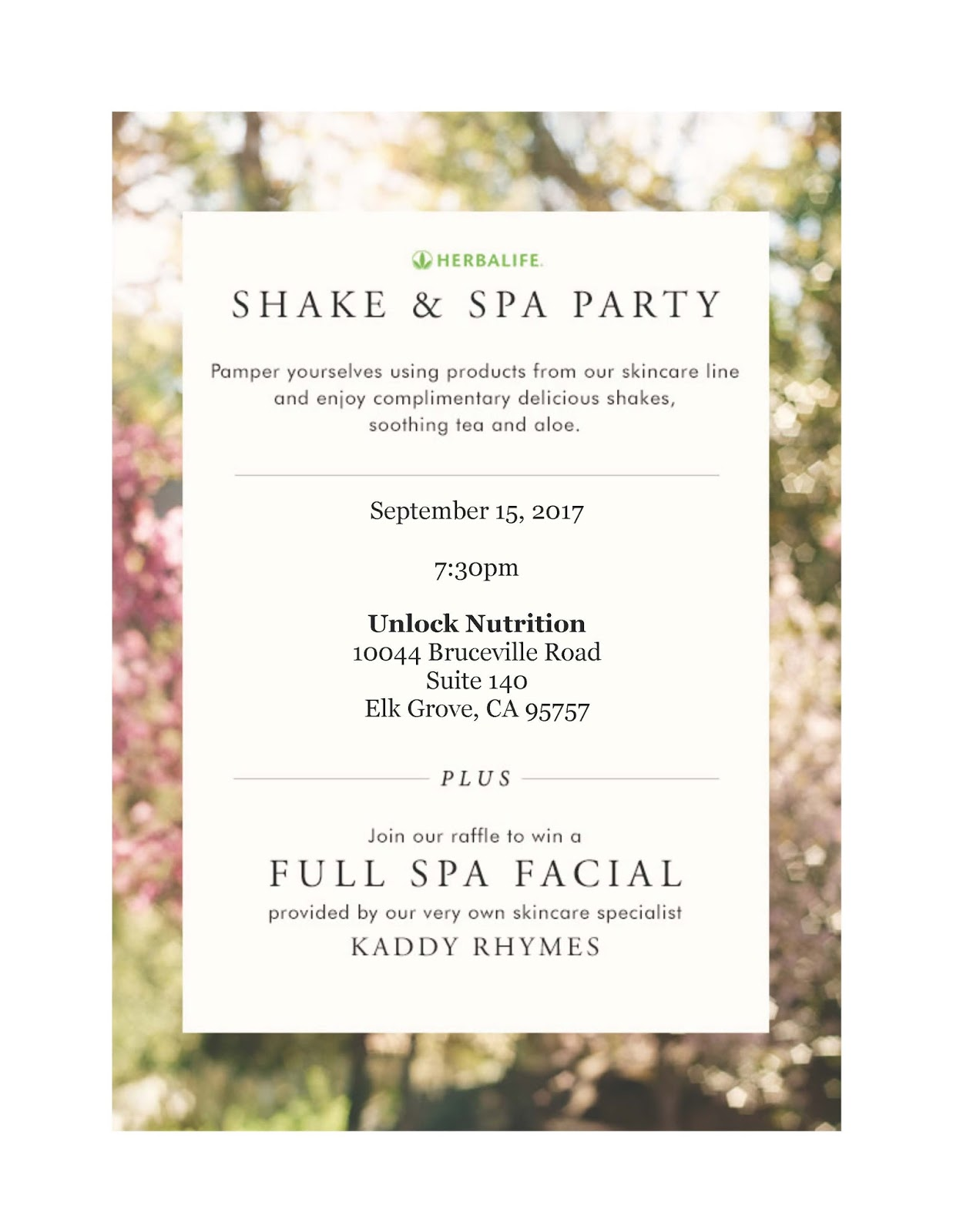 Welcome to HerbaSkinLadys Blog Spa and Shake Party