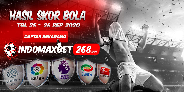 Hasil Pertandingan Sepakbola Tanggal 25 - 26 September 2020