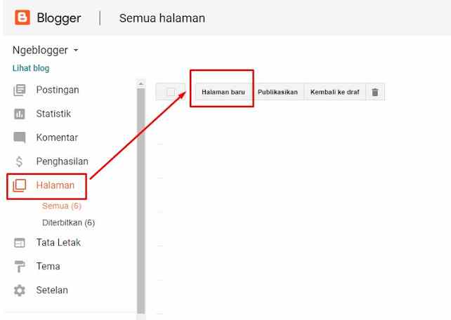 Memasang Script Sitemap / Daftar Isi Mendatar di Blogspot