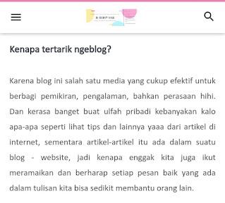 Tentang makna: mengapa tertarik ngeblog?