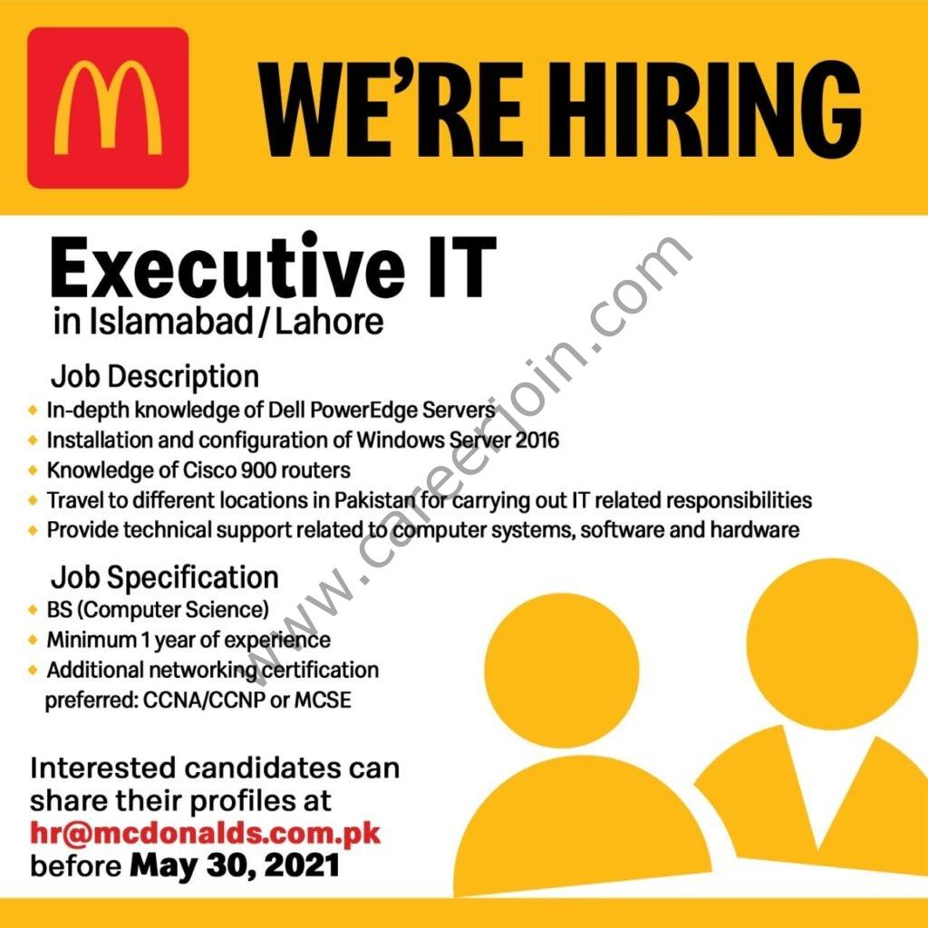 McDonald's Pakistan Jobs 2021 in Pakistan