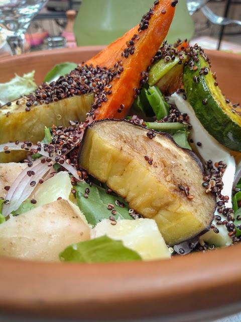 Delicious quinoa salad in Tilcara, Argentina