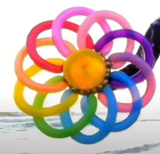 Ballondekoration Idee Mandala-Blume
