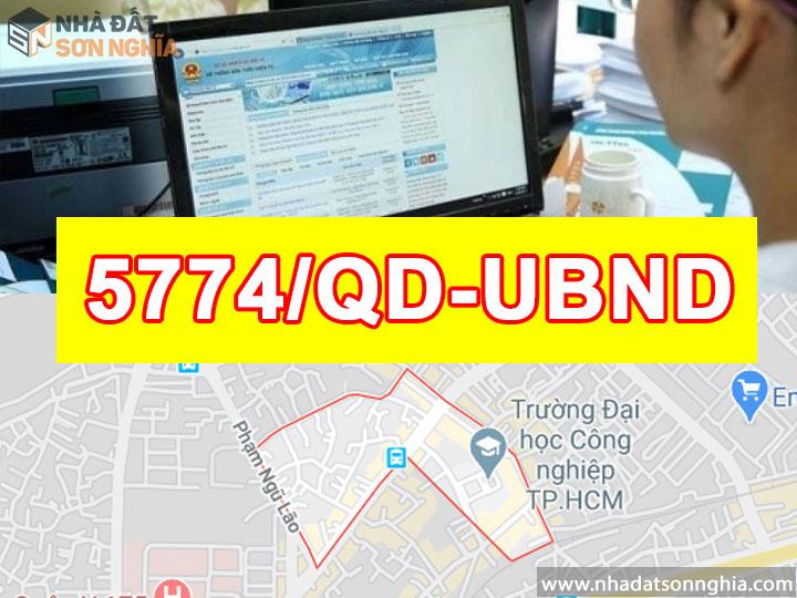 Quyết Định Số 5774/QĐ-UBND Đề Án Lộ Giới Đường Hẻm Tỉ Lệ 1/500 Phường 4 Quận Gò Vấp