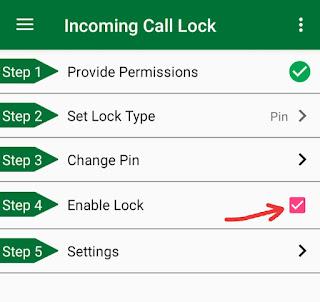 Incoming Call Lock Kaise Kare
