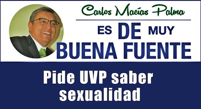 Pide UVP saber sexualidad