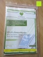 Erfahrungsbericht: GrüNatur Gesundheitsapotheke - UltraFix FensterWunder