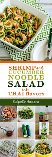 Shrimp and Cucumber Noodle Salad with Thai Flavors found on KalynsKitchen.com