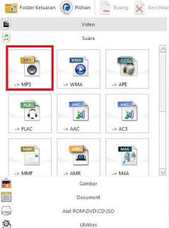 cara convert file audio video offline menggunakan format factory - pilih mp3