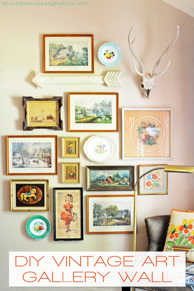 Diy Vintage Art Gallery Wall I Should Be Mopping The Floor