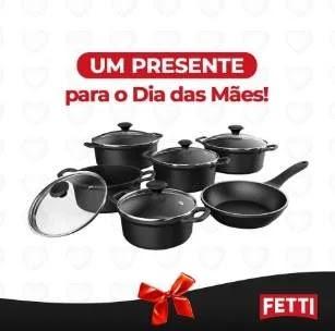 Promoção Fetti Panelas Dia das Mães 2020 - Concorra Conjunto de Panelas Grátis