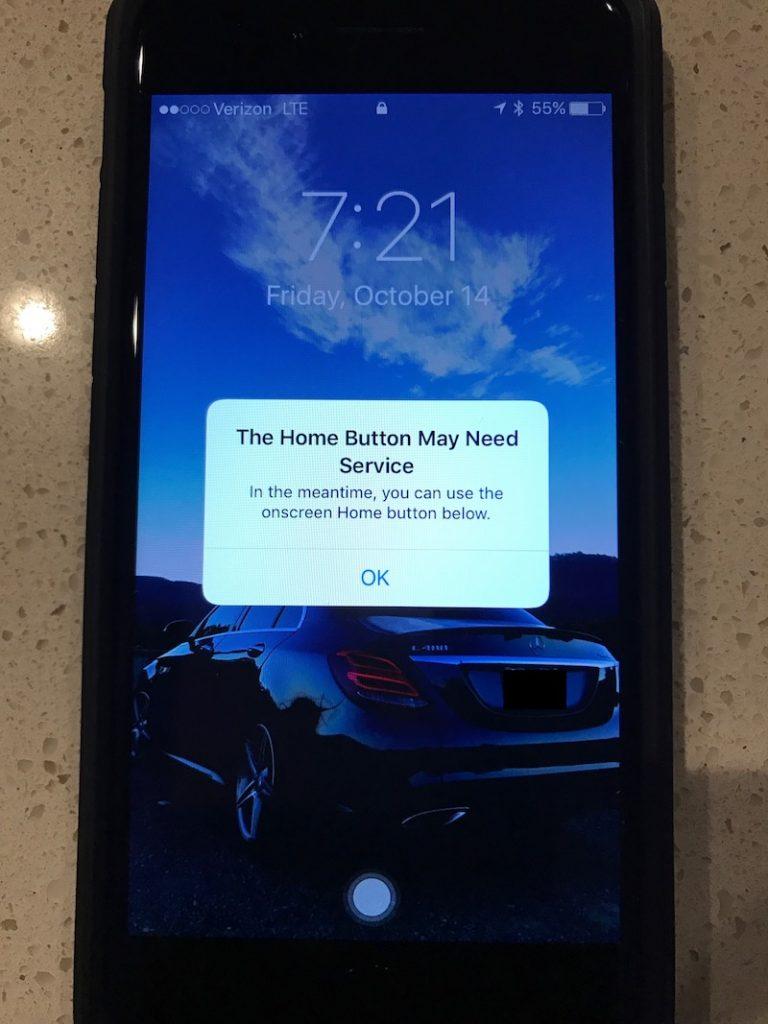 botão Início do iPhone 7
