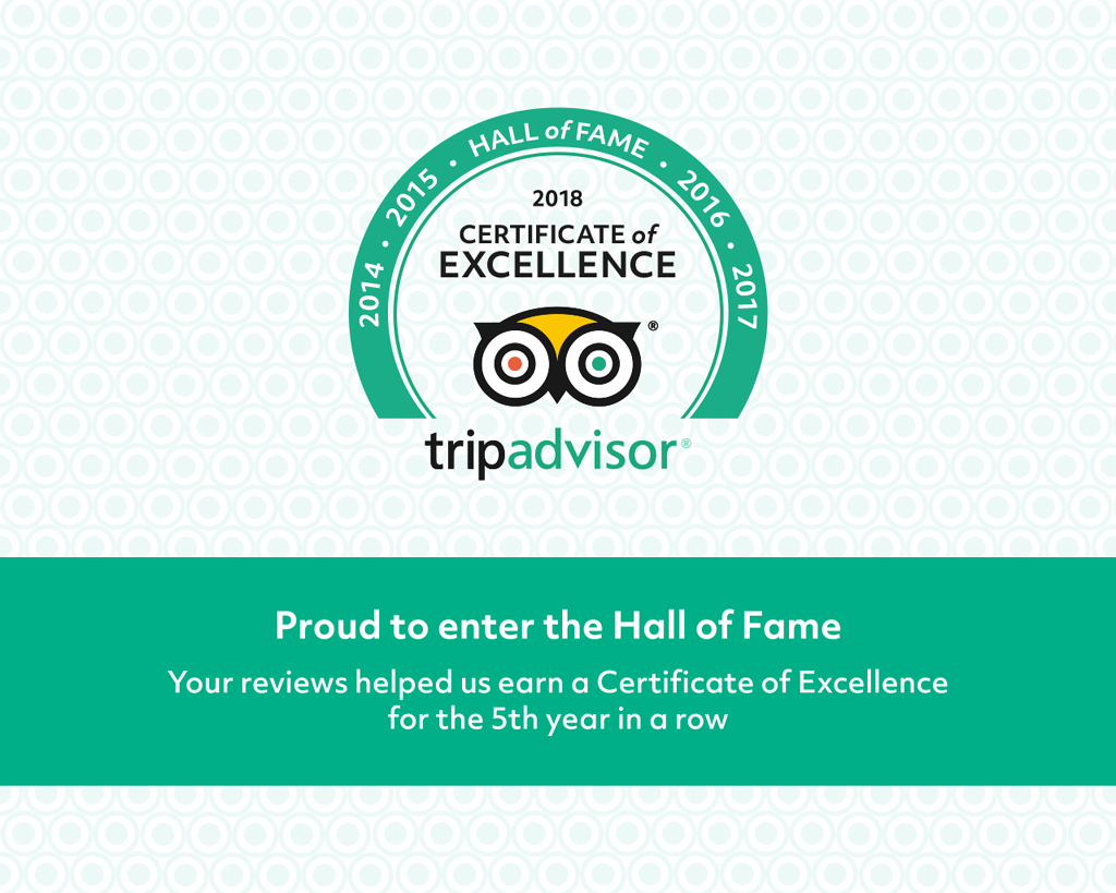 """Roadstour Earns 2018 Tripadvisor Certificate Of Excellence """"Hall Of Fame"""" Recognition"""