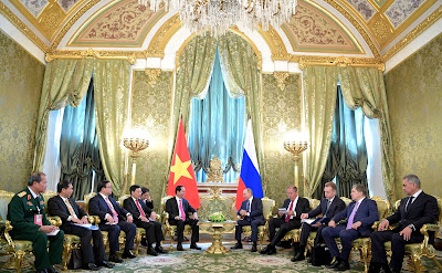 Russian-Vietnamese talks in the Kremlin.