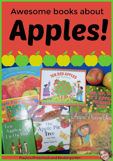 Awesome books about apples, from Paula's Preschool and Kindergarten