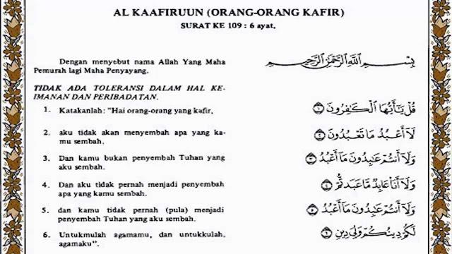 QS Al-Kafirun:1-6
