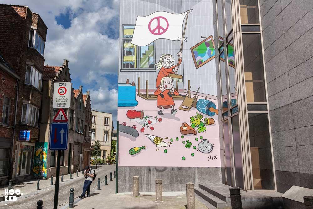 Brussels Street Art and Comic Murals