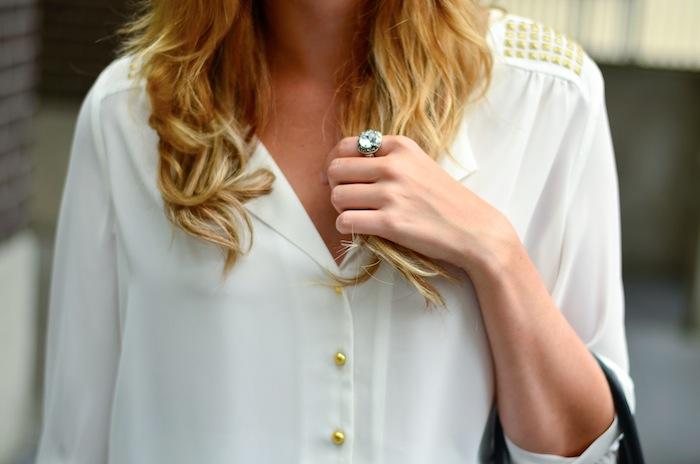 RW&CO studded blouse