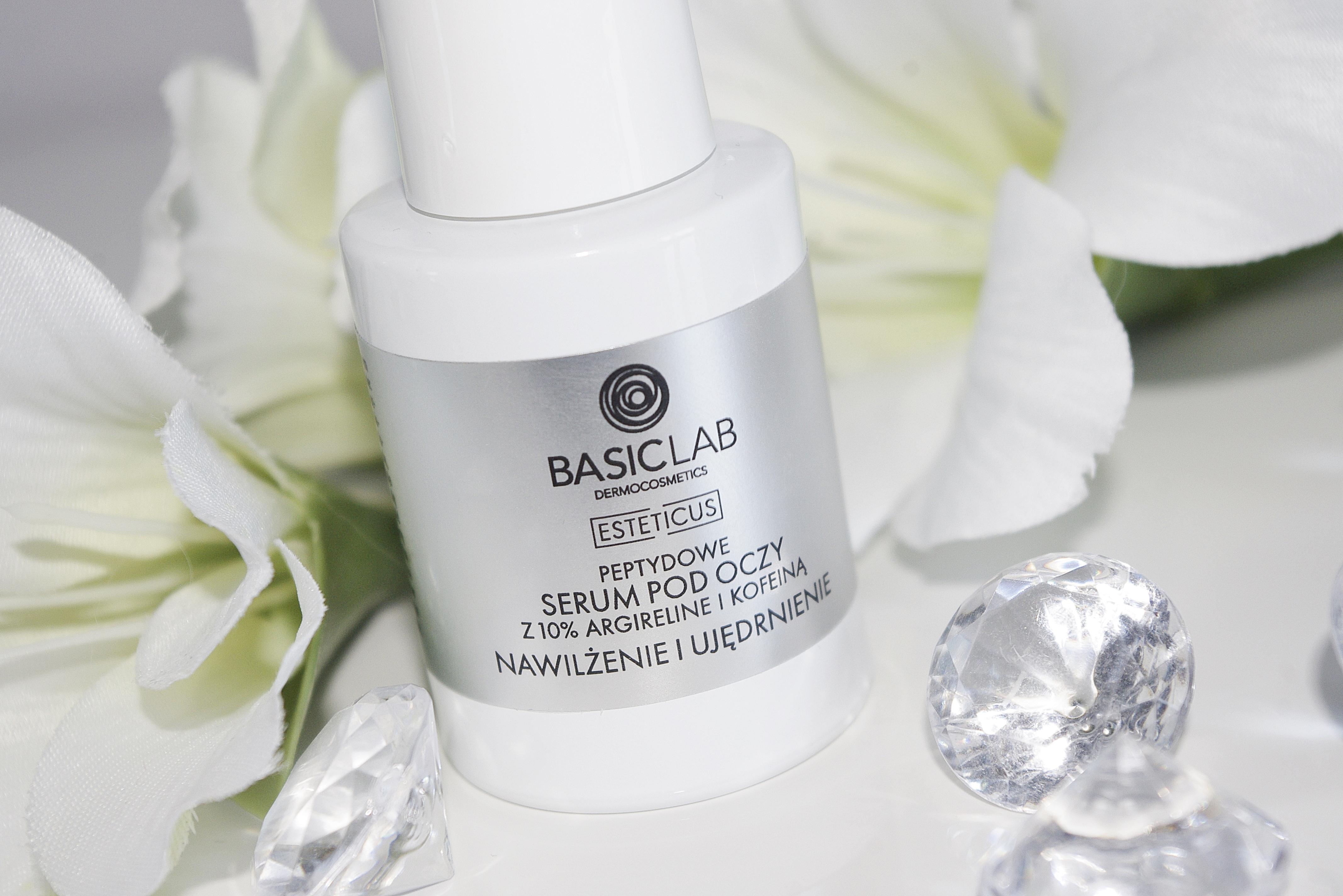 BasicLab Serum Peptydowe pod Oczy z Argileniną 10% Nawilżenie i Ujędrnienie