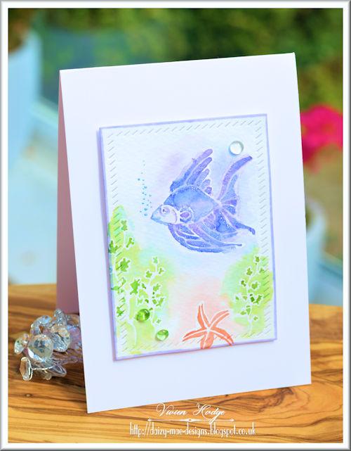 Watercolour, fish, CAS
