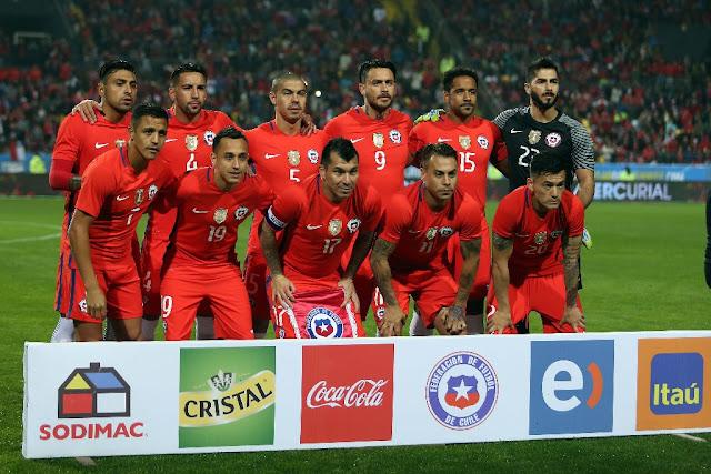 Formación de Chile ante Jamaica, amistoso disputado el 27 de mayo de 2016