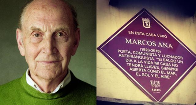 Willy Meyer conmemora el 14 de abril limpiando la pintada contra el poeta antifranquista Marcos Ana
