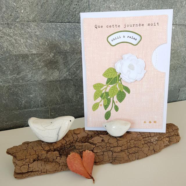 carte tournante rose blanche