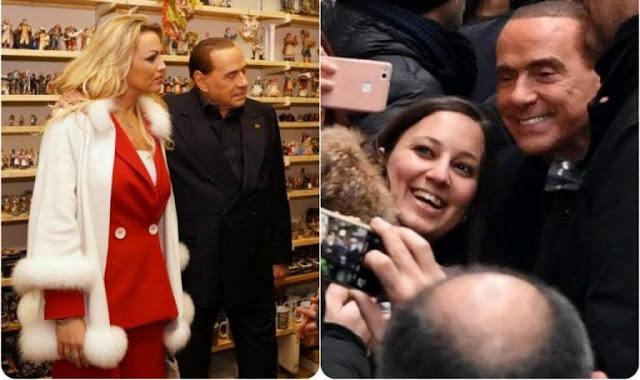 Ιταλία – εκλογές: Forza… Μπερλουσκόνι! Με την «εκρηκτική» σύντροφό του στη Νάπολη