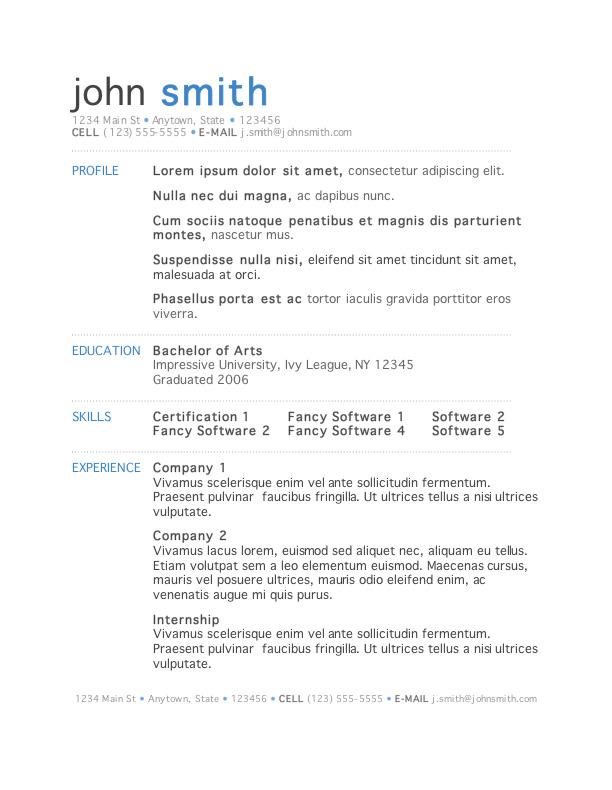 modern resume examples 2018