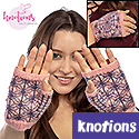 Charlotte Fingerless Mittens, from Knotions magazine