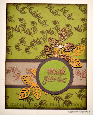 Mixed Borders, Thank you, Stampin' Up!, Stamp with Trude, Tuesday Tutorial
