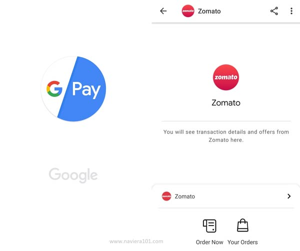 Google Pay Include new food ordering feature Order online food from Zomato using G Pay