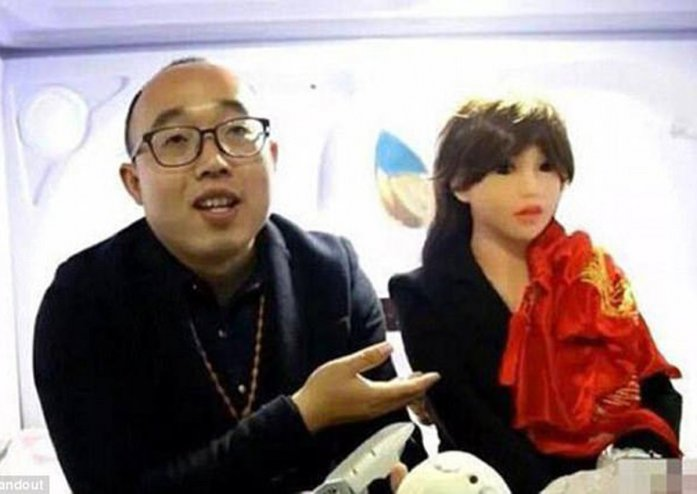 A Chinese engineer who was frustrated that he had no luck in love decided to marry a robot he had built in April this year.