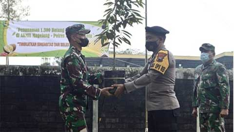 Polres Magelang Kota dan Akmil Tanam 1.300 Pohon Durian