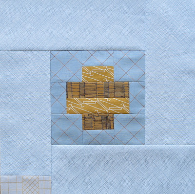 Modern sampler quilt - Block #19 - Inspired by Tula Pink City Sampler