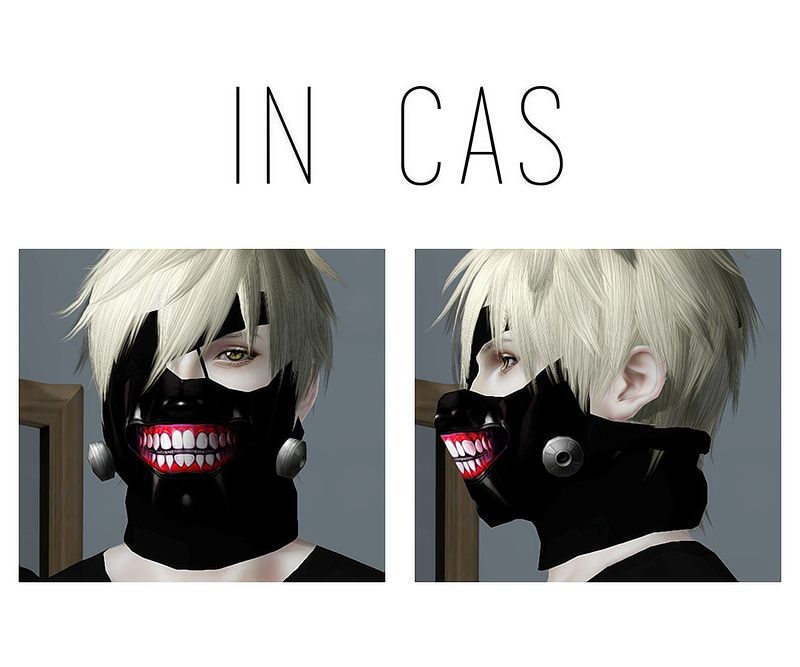 My Sims 3 Blog: Kaneki Mask By Pnmai