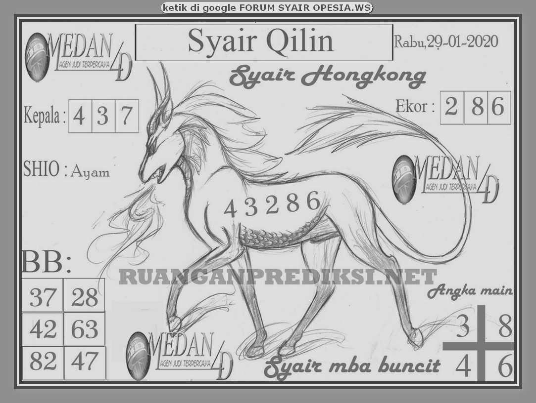 Kode syair Hongkong Rabu 29 Januari 2020 148