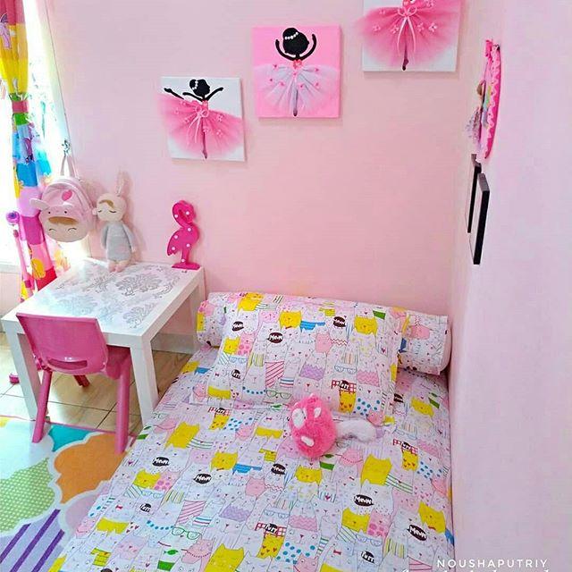 Warna Cat Kamar Tidur Pink Sederhana Ukuran Kecil Remaja