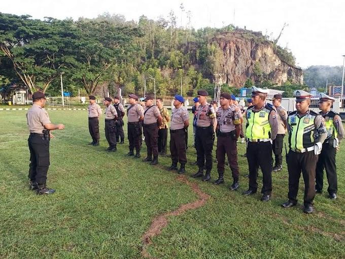Kapolres Raja Ampat Memimpin Apel APP Pengamanan Kegiatan High Level On Green Invesment For Papua and West Papua