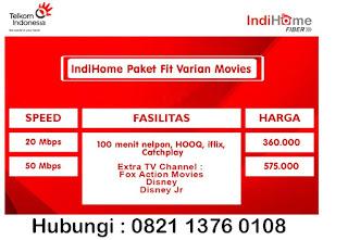 Paket Indihome Fit Varian Movies