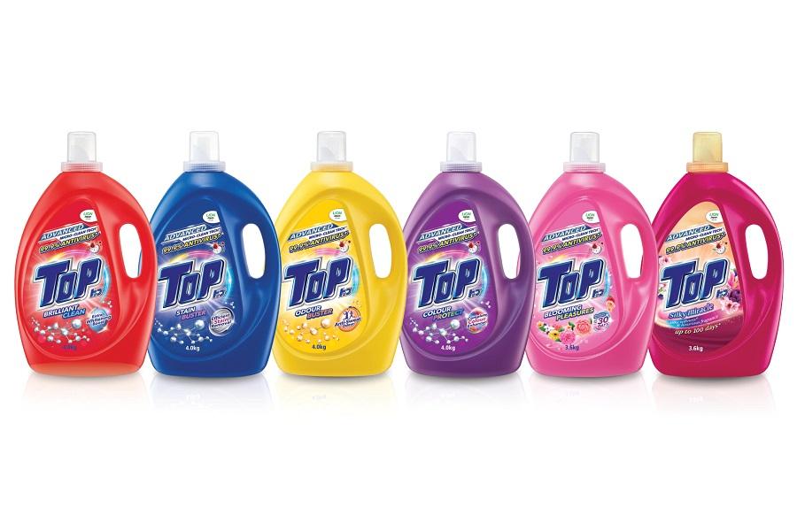Pencuci pakaian cecair Advanced Micro-Clean Tech TOP didatangi dengan 6 varian
