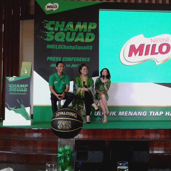 MILO Champ Squad Mendukung Anak Melakukan Aktifitas Secara Menyenagkan