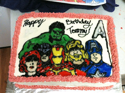 The Avengers Birthday Cakes