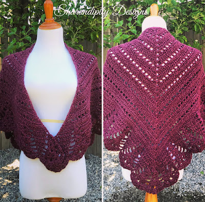 Crochet Prayer Shawl made by Sharondipity Designs