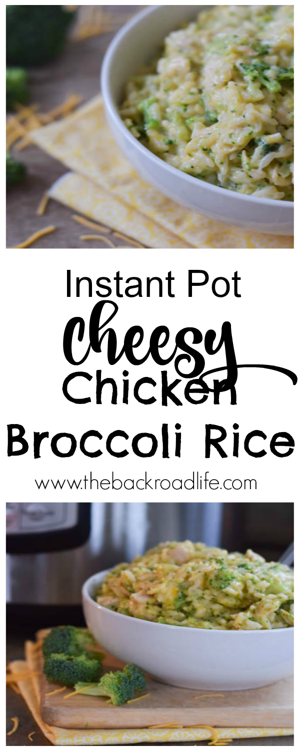This Instant Pot Cheesy Chicken Broccoli Rice is an easy one pot casserole to feed the whole family.