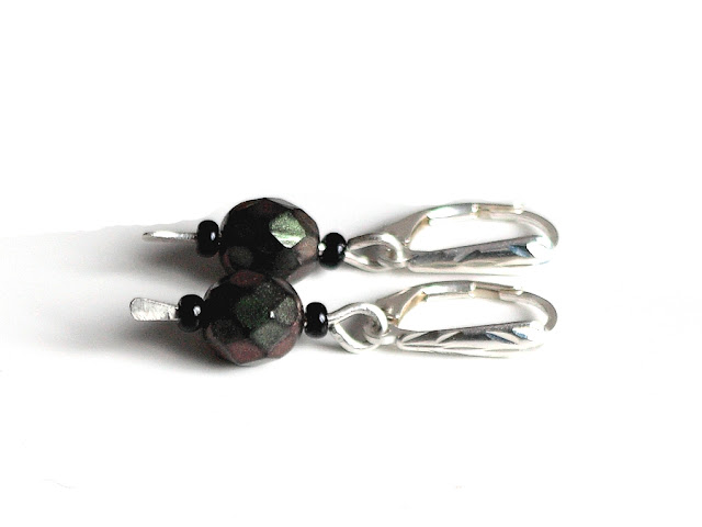 Hot Off The Press - New Beaded Sterling Silver Earrings