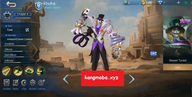 Script Skin Starlight Khufra Dreadful Clown Full Effect + Lobby Mobile Legends