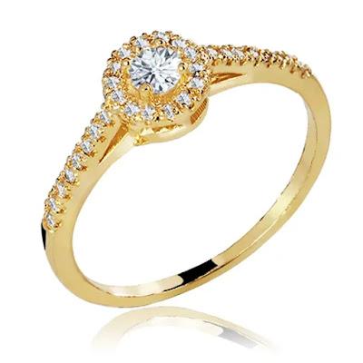 anel de noivado rebuscado